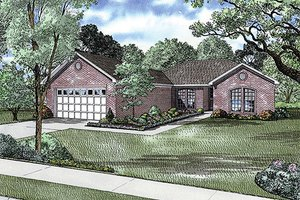 Traditional Exterior - Front Elevation Plan #17-635