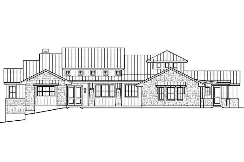 Ranch Exterior - Front Elevation Plan #935-6 - Houseplans.com