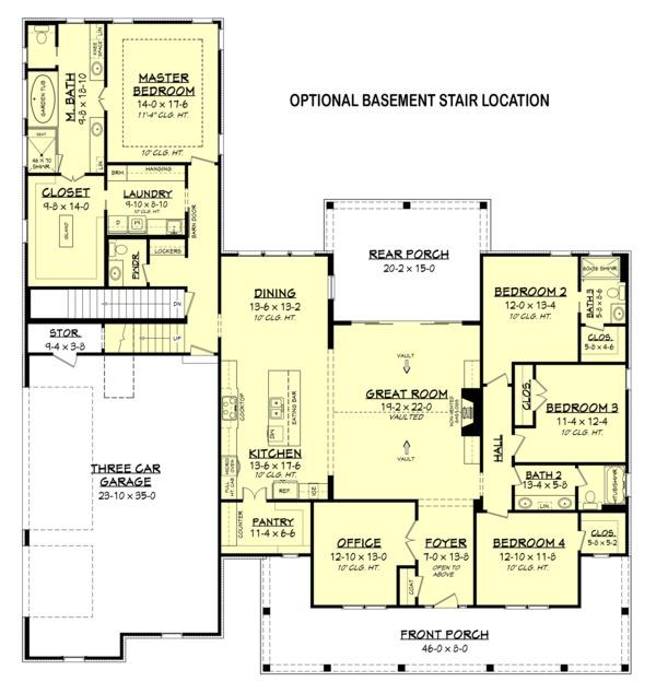 Farmhouse Style House Plan - 4 Beds 3.5 Baths 2926 Sq/Ft Plan #430-175 Floor Plan - Other Floor Plan