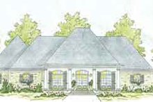 Dream House Plan - Southern Exterior - Front Elevation Plan #36-447