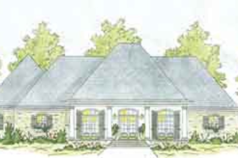 Southern Exterior - Front Elevation Plan #36-447