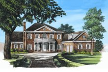 Southern Exterior - Front Elevation Plan #137-195