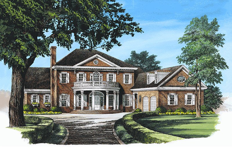 Southern Exterior - Front Elevation Plan #137-195 - Houseplans.com