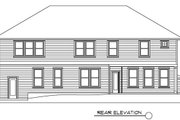 Traditional Style House Plan - 3 Beds 2.5 Baths 3092 Sq/Ft Plan #133-108 Exterior - Rear Elevation