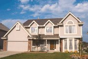 Traditional Style House Plan - 3 Beds 2.5 Baths 1998 Sq/Ft Plan #20-215 Exterior - Other Elevation