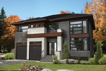 House Plan Design - Contemporary Exterior - Front Elevation Plan #25-4903