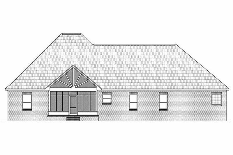 Traditional Exterior - Rear Elevation Plan #21-282 - Houseplans.com