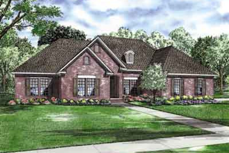 Traditional Style House Plan - 3 Beds 2.5 Baths 2134 Sq/Ft Plan #17-2155