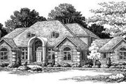 European Style House Plan - 4 Beds 3.5 Baths 3500 Sq/Ft Plan #334-114 Exterior - Front Elevation