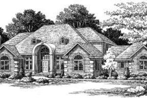 European Exterior - Front Elevation Plan #334-114