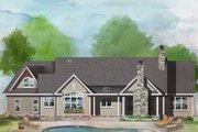 Craftsman Style House Plan - 3 Beds 2 Baths 2025 Sq/Ft Plan #929-1040 Exterior - Rear Elevation