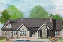 Craftsman Exterior - Rear Elevation Plan #929-1040
