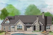 Craftsman Exterior - Rear Elevation Plan #929-1040