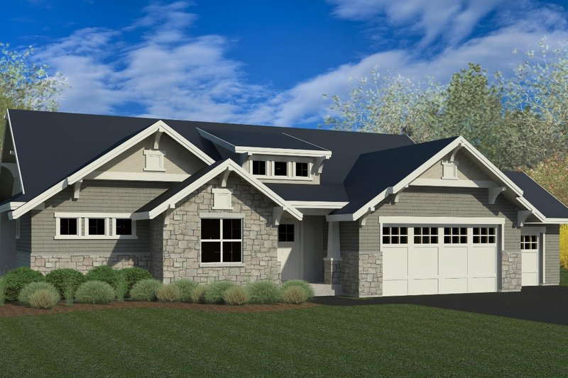 Craftsman Exterior - Front Elevation Plan #920-7