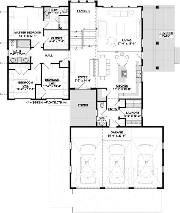 Dream House Plan - Modern Floor Plan - Main Floor Plan #928-351