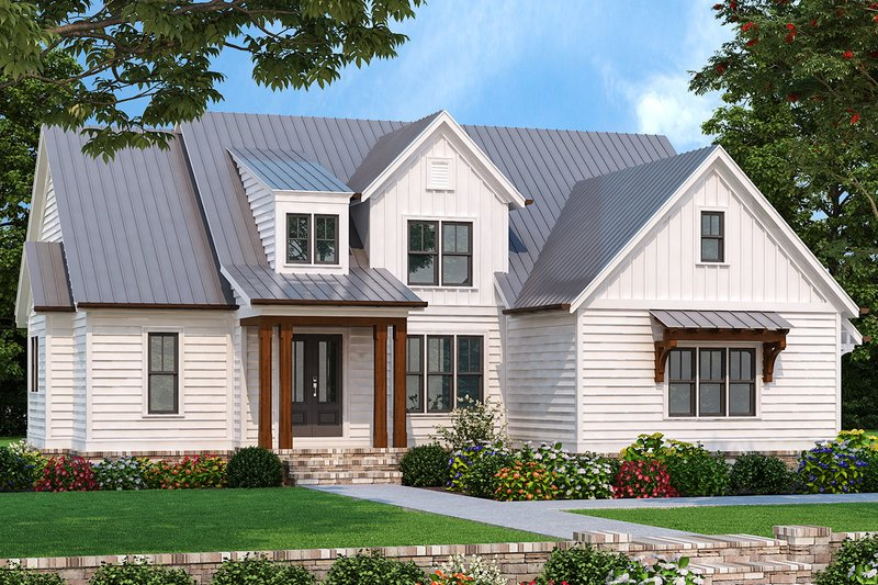 Architectural House Design - Farmhouse Exterior - Front Elevation Plan #927-1003