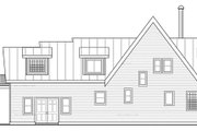Contemporary Style House Plan - 3 Beds 3 Baths 1680 Sq/Ft Plan #124-874 Exterior - Rear Elevation