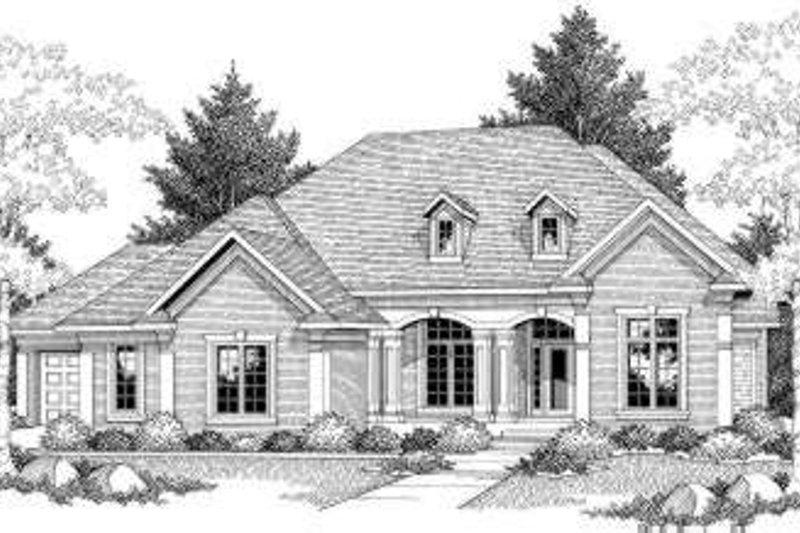 Dream House Plan - European Exterior - Front Elevation Plan #70-585