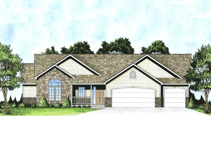 House Plan Design - Traditional Exterior - Front Elevation Plan #58-235