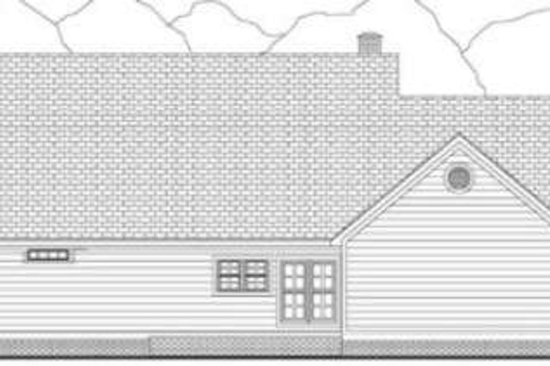 Southern Exterior - Rear Elevation Plan #406-264 - Houseplans.com