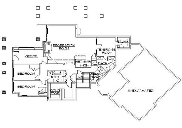 Home Plan - Traditional Floor Plan - Lower Floor Plan #5-298