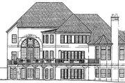 European Style House Plan - 5 Beds 5.5 Baths 3691 Sq/Ft Plan #119-125 Exterior - Rear Elevation