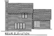 Traditional Style House Plan - 3 Beds 2.5 Baths 1663 Sq/Ft Plan #70-271 Exterior - Rear Elevation