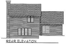 House Plan Design - Traditional Exterior - Rear Elevation Plan #70-271