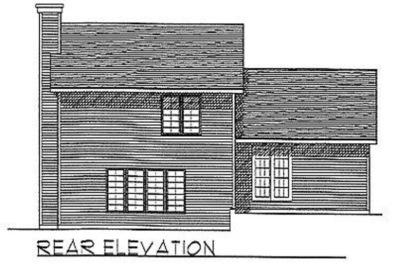 Traditional Exterior - Rear Elevation Plan #70-271 - Houseplans.com