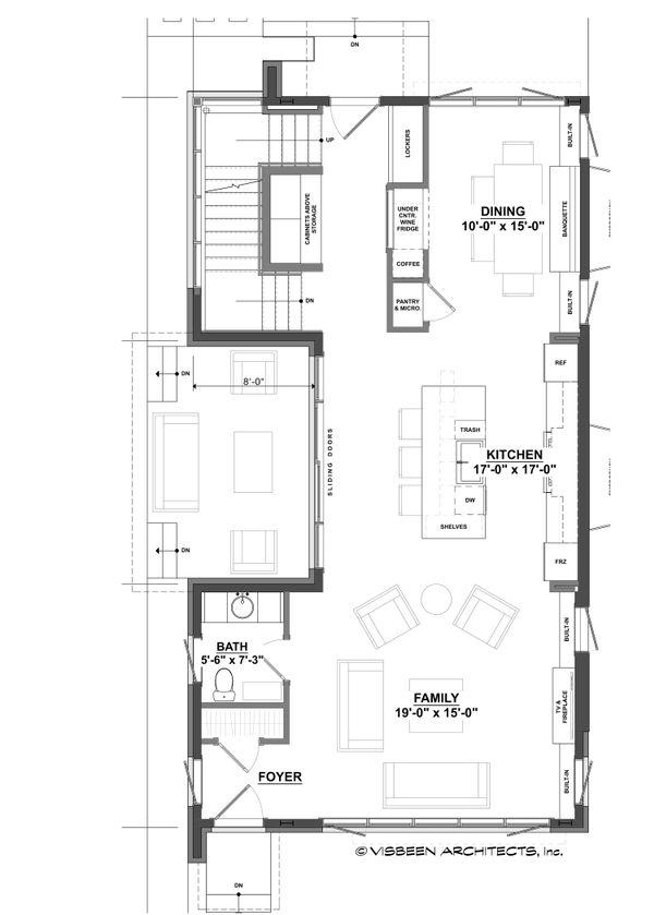 Contemporary Floor Plan - Main Floor Plan Plan #928-296