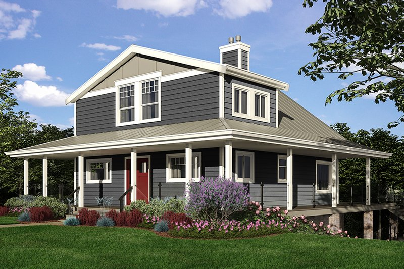 Cottage Style House Plan - 4 Beds 3 Baths 3162 Sq/Ft Plan #118-173 Exterior - Front Elevation