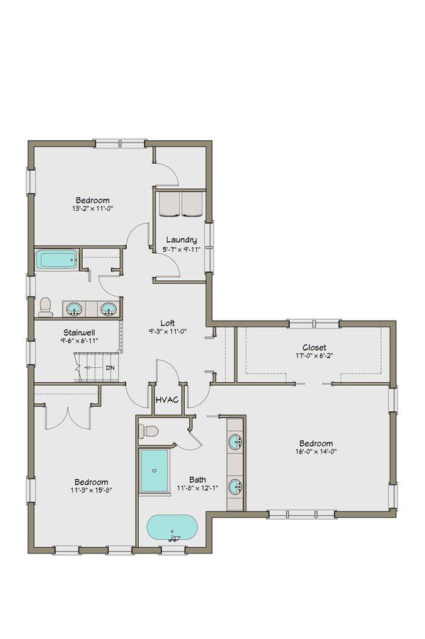 Craftsman Floor Plan - Upper Floor Plan #461-44