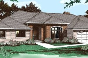 Architectural House Design - Ranch Exterior - Front Elevation Plan #91-102