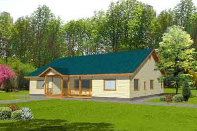 Ranch Exterior - Front Elevation Plan #117-294 - Houseplans.com