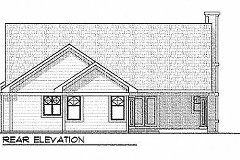 Traditional Exterior - Rear Elevation Plan #70-183 - Houseplans.com