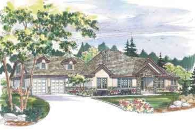 Dream House Plan - European Exterior - Front Elevation Plan #124-462