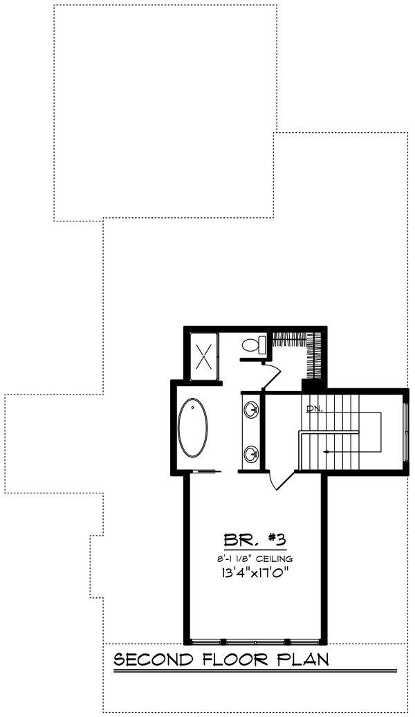 Farmhouse Floor Plan - Upper Floor Plan Plan #70-1419