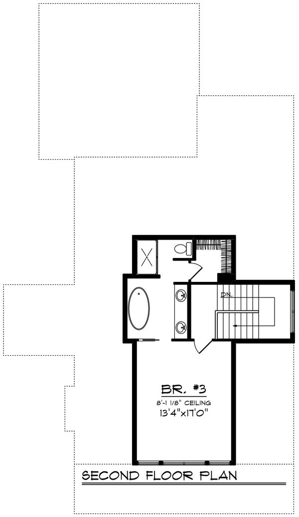 Farmhouse Floor Plan - Upper Floor Plan Plan #70-1419