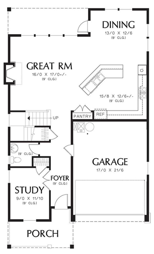 Traditional Floor Plan - Main Floor Plan Plan #48-501