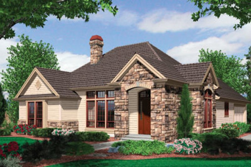 Craftsman Exterior - Front Elevation Plan #48-279