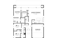 Contemporary Floor Plan - Main Floor Plan Plan #48-471