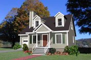 Traditional Style House Plan - 3 Beds 2 Baths 1223 Sq/Ft Plan #79-148 Exterior - Front Elevation