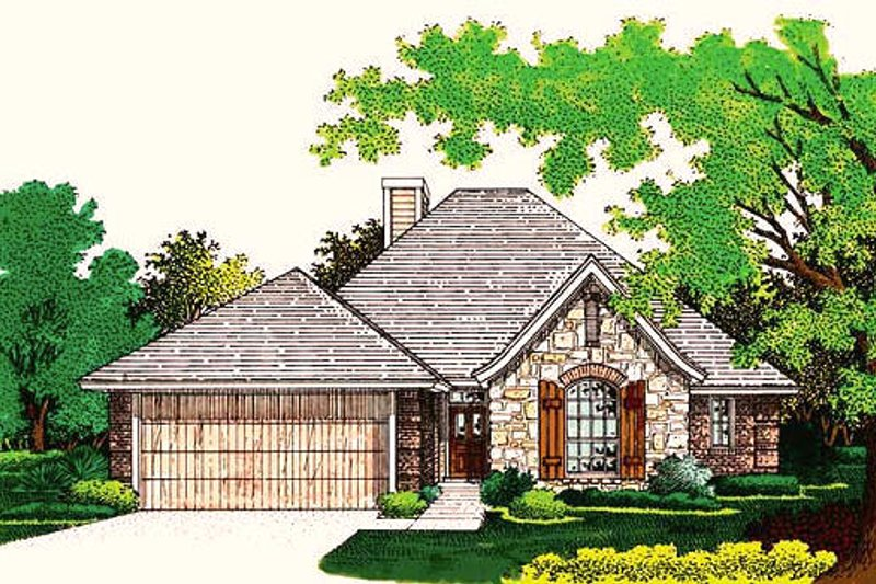House Plan Design - European Exterior - Front Elevation Plan #310-755