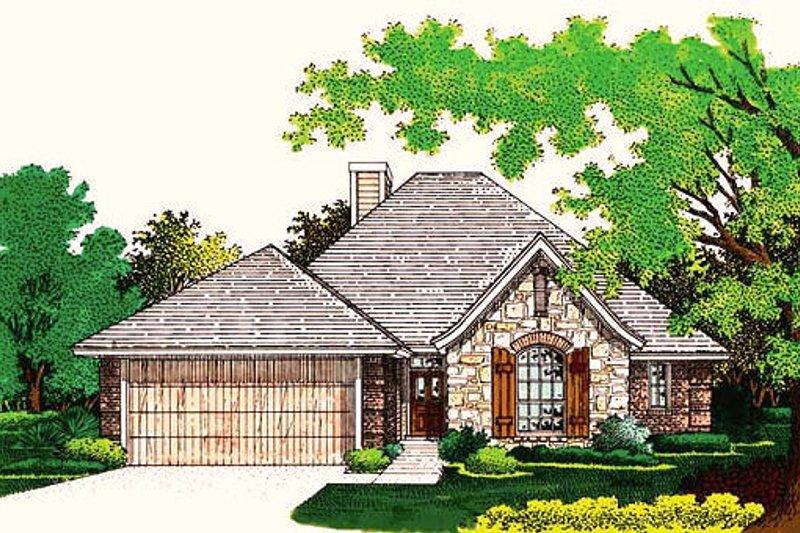 Home Plan - European Exterior - Front Elevation Plan #310-755