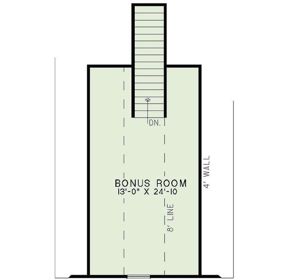 Traditional Floor Plan - Upper Floor Plan Plan #17-2454