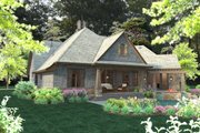 Craftsman Style House Plan - 4 Beds 3.5 Baths 2482 Sq/Ft Plan #120-184 Exterior - Other Elevation