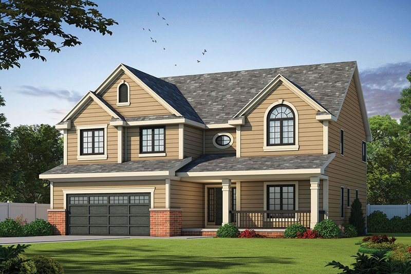 Home Plan - Country Exterior - Front Elevation Plan #20-1665