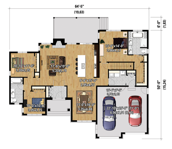 Ranch Floor Plan - Main Floor Plan Plan #25-4456