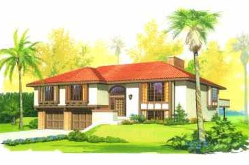 House Blueprint - Mediterranean Exterior - Front Elevation Plan #72-363