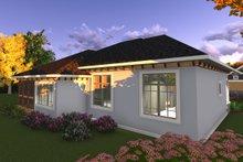 House Plan Design - Ranch Exterior - Rear Elevation Plan #70-1240